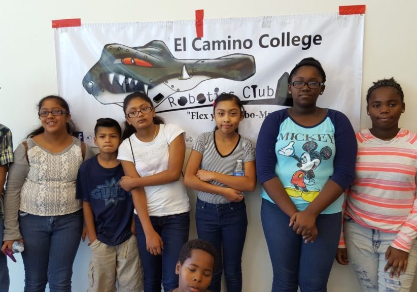 West Region middle school students in a summer robotics course.